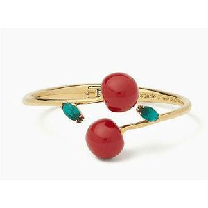 KATE SPADE Ma Chérie Cherry Open Hinged Bracelet